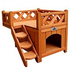 Confidence Pet Wooden Dog House / Kennel with Balcony