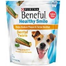 Beneful Healthy Smile Dental Dog Snacks, Small/Medium Twists, 18.9-Ounce Pouch, Pack of 1