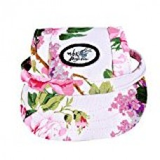 Cade Flower Pattern Nylon Baseball Cap/ Dogs Hat / Visor Cap with Ear Holes for Small Dogs (Floral Print)