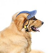 Bwogue Jeans Adjustable Pet Dog Sport Baseball Outdoor Sun Protection Hat / Cap for Large Small Pet