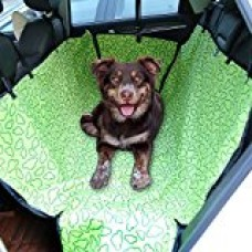 Amzdeal Pet Seat Cover Car Travel Hammock for Dog Waterproof and Washable Seat Cover Oxford Fabric, Green