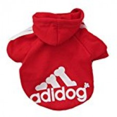 BabeMall Super Cute Pet Cat Small Dog Puppy Hoodie Sweater Warm Fleece Costumes Coat Clothes (Colour Red, Size XS)