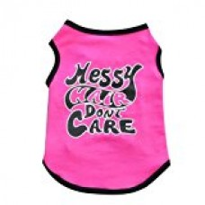 AIMTOPPY Pet Costumes,New Fashion Summer Cute Dog Pet Vest Puppy T Shirt (S, Hot pink)