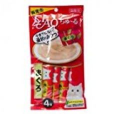 4 Pcs X 14g. (Tuna) CIAO Churu Tuna Cat lick Snacks (Japan Cat Snack) Reward for cats. CAT Love it
