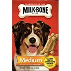 3 Pack - Milk Bone Medium Biscuits For Dogs Over 20 Lbs, 17 Ounce Box
