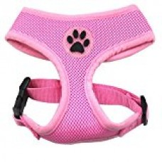 BINGPET BB5001 Soft Mesh Dog Harness Pet Walking Vest Puppy Padded Harnesses Adjustable , Pink Extra Small
