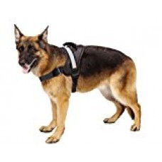 Big Dog Soft Reflective No Pull Black Harness size L 26-36inch