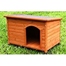 Captain Pet Waterproof Solid Cedar Dog House Porcelain Wooden Pet Kennel