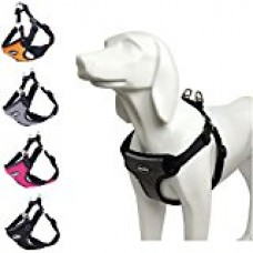 BINGPET No Pull Dog Harness Reflective for Pet Puppy Freedom Walking Medium Gray