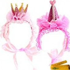 2 Pcs Adorable Cute Cat Dog Pet Hair Head Bands Accessories for Kitten Puppy Small Dogs Cats Pets (D)