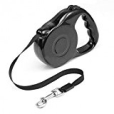 Aipet Retractable Dog Leash - Ribbon Lead for Training, Backyard Use and Walking Dogs - Easy to Grip Handle - Pet Training (Black)