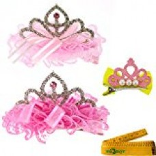 2 Pcs Adorable Cute Cat Dog Pet Birthday Party Crown Shaped Lace Hair Clips and 1 Pcs Crown Shaped Clip for Kitten Puppy Small Dogs Cats Pets (A)