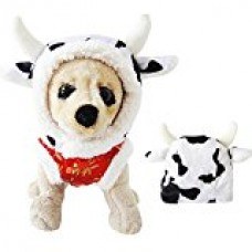 Cow Hat Dog Party Costume Winter Small