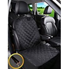 Alfheim Dog Bucket Seat Cover - Nonslip Rubber Backing with Anchors for Secure Fit - Universal Design for All Cars, Trucks & SUVs (Black)