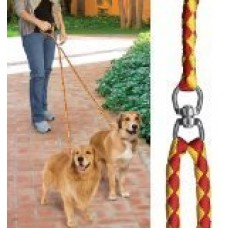 52'' No-Tangle Dual Dog Leash with Swivel, Comfortably Walks Two Dogs Weighing Up To 500 Pounds At Once